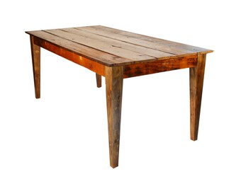 Reclaimed Farm House Table: Tapered Legs