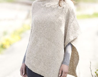 Knitted Poncho - Alpaca poncho. Made To Order!