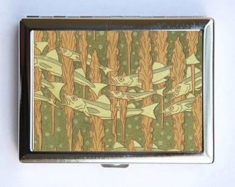 Art Nouveau Fish Cigarette Case Wallet Business Card Holder