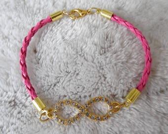 lovely fuschia infinity sign bracelet