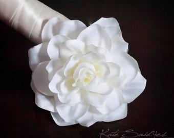 Gardenia Hair Pin - White Gardenia Silk Hair Pin