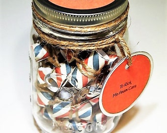 Deployment Message Filled Mason Jar **Deployment Gift**Patriotic Message Jar