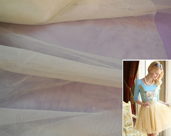 Ivory  Champagne Soft tulle fabric Ideal for party dress or tutu dress making DIY .  sold by Per 0.5 Meter