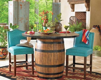 """36"""" Whiskey Barrel Table or Wine Barrel Table"""
