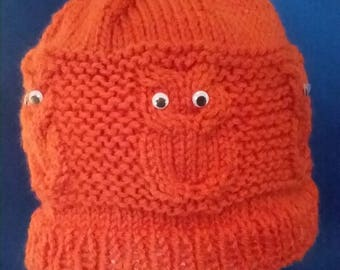 Dark Orange  Owl Hat