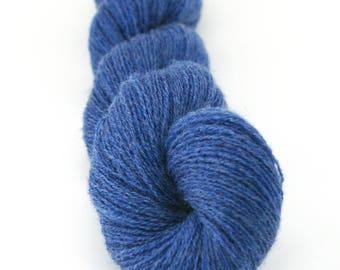 Blue Merino Wool Yarn, Recycled Extra Fine Grade Denim Blue Yarn, Merino Wool Lace Weight Yarn, Blue Merino Yarn, Extra Fine Merino Yarn