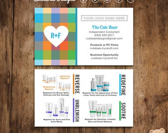 Rodan and fields business cards facebook messenger profile rodan and fields business cards multicolored mesh pattern big heart product regimens digital diy printable colourmoves