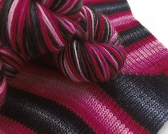 Hand dyed self striping merino sock yarn - It Must Be Bunnies