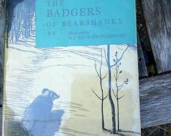 Le blaireau de Bearshanks, B.B. illustré par le juge suppléant. Watkins-Pitchford, Vintage children'sbook, livre relié, Ernest Benn, Londres,