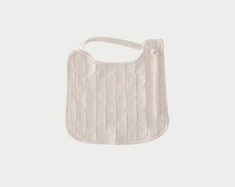 Organic Cotton Pleated Sprinkle Bib