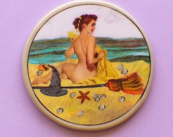 Pin Up BEACH WITCH Talisman Amulet Wicca Pagan