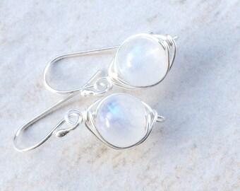 Moonstone Earrings Moonstone Jewelry Silver Jewelry