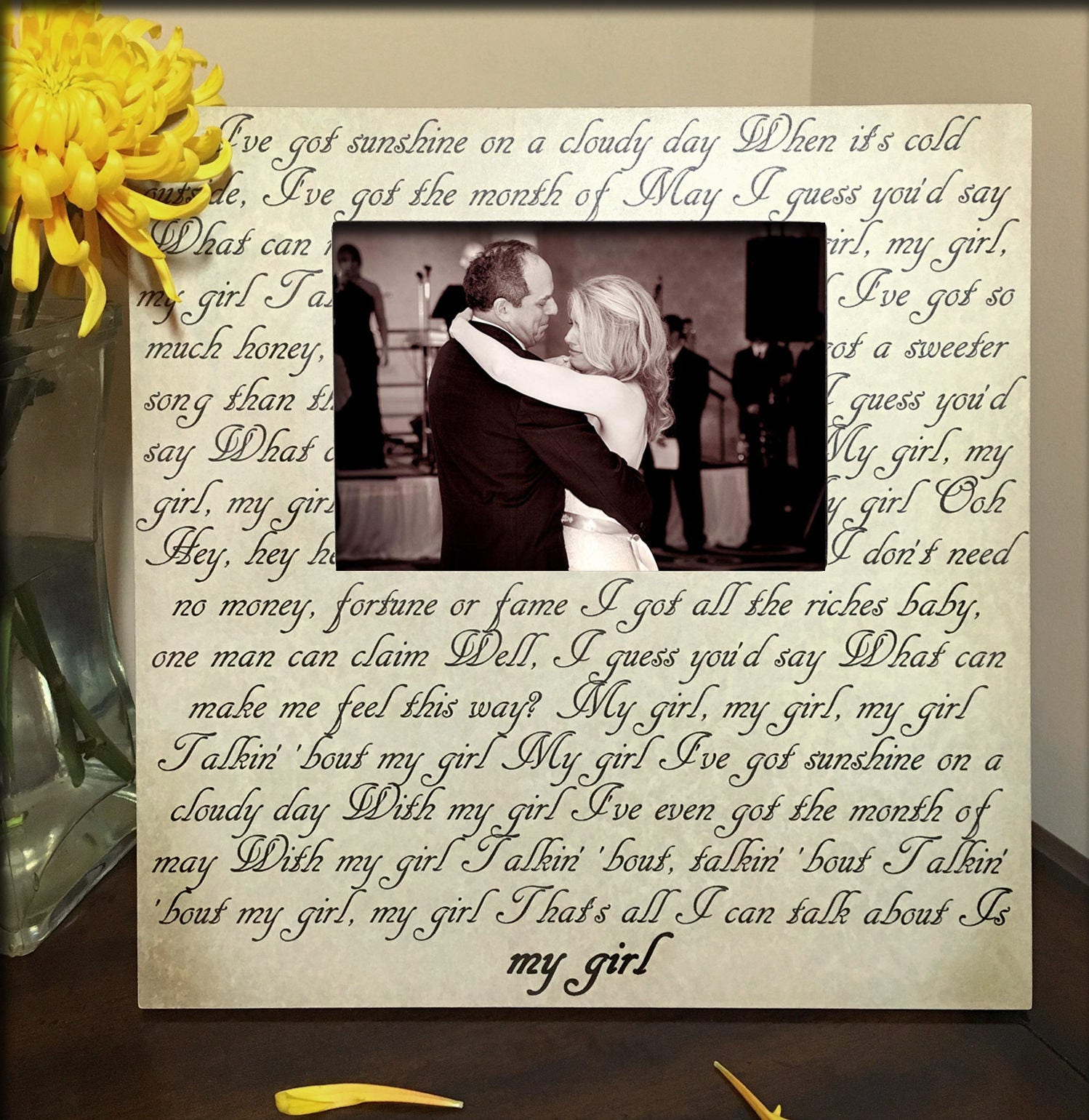 Wedding song first dance song lyric picture frame gifts for zoom jeuxipadfo Gallery