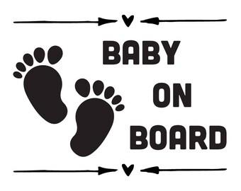 Baby On Board vinyl Sticker | Car window Decal | Window Cling