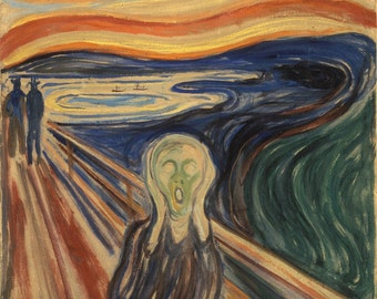 Edvard Munch: The Scream (1893–1893) Canvas Gallery Wrapped Giclee Wall Art Print (D605)