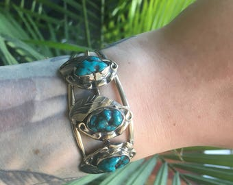 Navajo-inspired Turquoise Cuff Bracelet