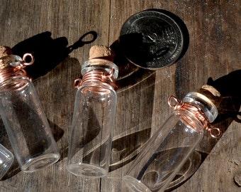 Miniature glass bottle, glass bottles pendant, mini glass bottle,recycled miniature glass bottle,mini glass bottle supply, handmade supply