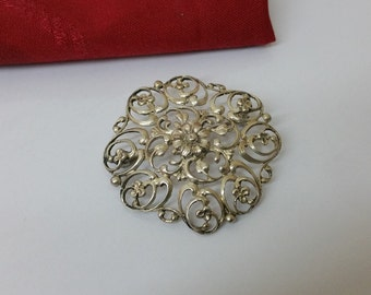 Antique brooch silver 835 costume jewelry SB202