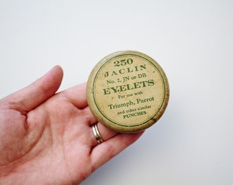 Vintage Collectible Storage Tin - 250 Jaclin Eyelets Collectible Tin Container