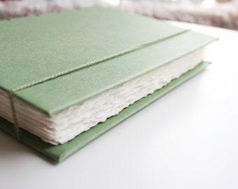 Large Green Journal, Handmade Journal, Watercolor Book