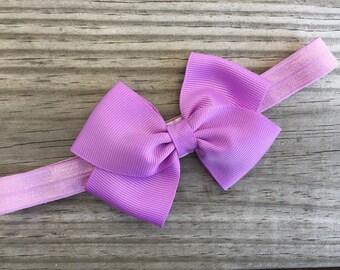 Lilac Headband / Lilac Bow / Baby Headband / Toddler Headband