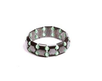 Rebel Behavior Hematite and Tourmaline bracelet