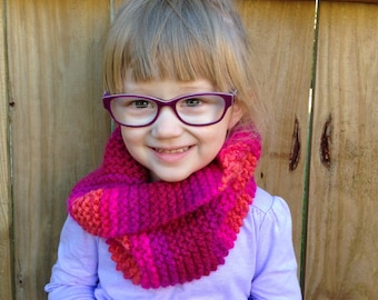 Toddler Twist Scarf- Berry