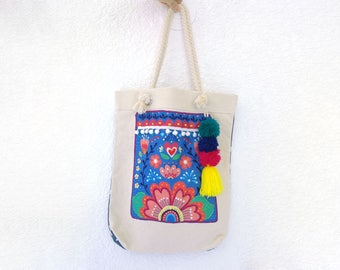 LOLA -  Embroidered Tote Bag