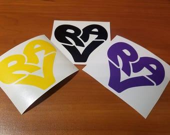 RVA Heart - Vinyl Decal - Richmond, Virginia
