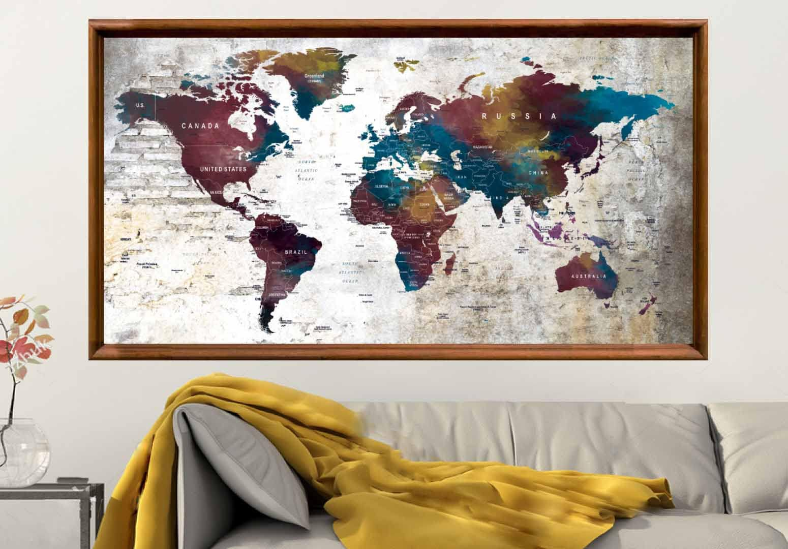 Large world map posterworld map wall artworld map decalpush pin large world map posterworld map wall artworld map decalpush pin map posterpush pin map art map printworld map wall decalmap art gumiabroncs Image collections