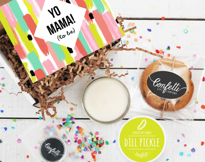 Mini Yo Mama To Be Gift Box -  Pregnancy Gift | Expecting A Baby Gift | Friend Pregnancy Gift | Sister Pregnancy Gift | Mom To Be Gift