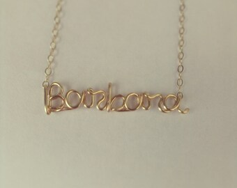 Name/ Word Necklace 14k gold filled over 6 letters
