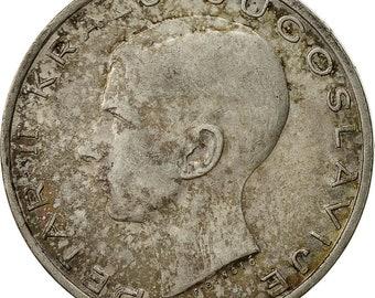yugoslavia petar ii 20 dinara 1938 au(50-53) silver km23