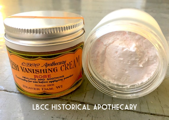 Authentic 1940s Makeup History and Tutorial 1931 Flesh Vanishing Cream - Healing & Soothing- Foundation Cream- $13.00 AT vintagedancer.com