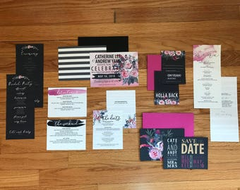 The Catherine Collection—Seven-Piece Wedding Invitation Suite (Pack of 10)
