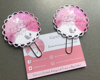 Custom Logo Planner Clips, Planner Clips, paper clips, bookmark, page marker, paperclip, pack of 2