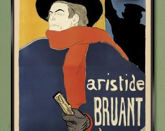 Toulouse-Lautrec – Ambassadeurs 16x24 32x48 Canvas Wrap w/ Free UPS Shipping