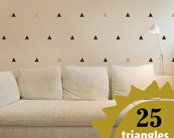 Wall Vinyl TRIANGLES Stickers Decals NURSERY Urban Abstract Decor