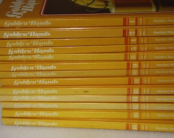 Golden Hands x 13 books The complete Knitting dressmaking and needlecraft guide 13 vintage hard cover craft books 1972 knitting books sewing