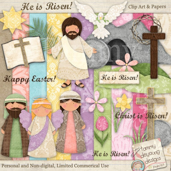 Easter clip art for kids easter digital papers religious like this item negle Gallery