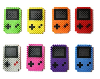 Game Boy System Key Chain, Cell Phone Strap, Magnet Perler Bead