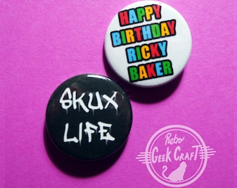 Hunt For the Wilderpeople Ricky Baker Skux Life Button Badges