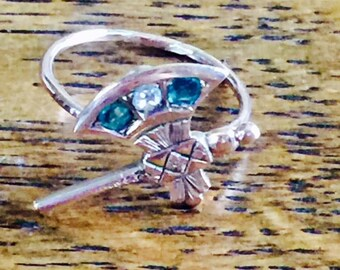 Gold Stick Pin Conversion Ring