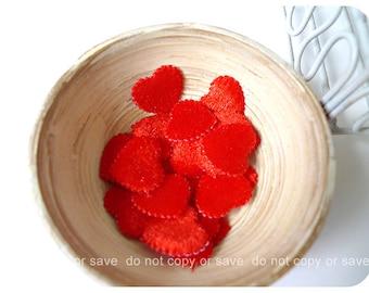 Red Heart shape felt  / pack