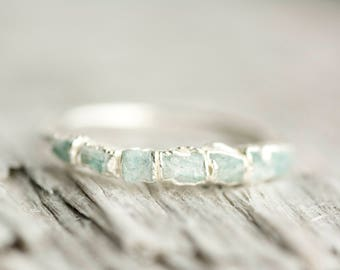Amazonite Ring. Amazonite Band. Amazonite Band Ring. Amazonite Wedding Band Ring. Raw Amazonite Ring