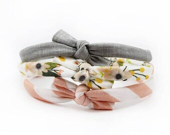 Baby Bow Headband Set, Floral Bows, Baby Girl Headbands, Baby Accessories, Knotted Headbands, Flower Headbands, Baby Shower Gift, Top Knot