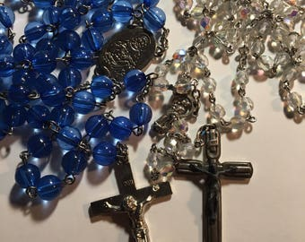 Two Rosary Crusifix Necklaces