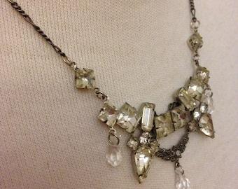 Vintage Sparkling Ice Princess Necklace