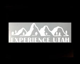 Canyoneering - Experience Utah Vinyl Sticker