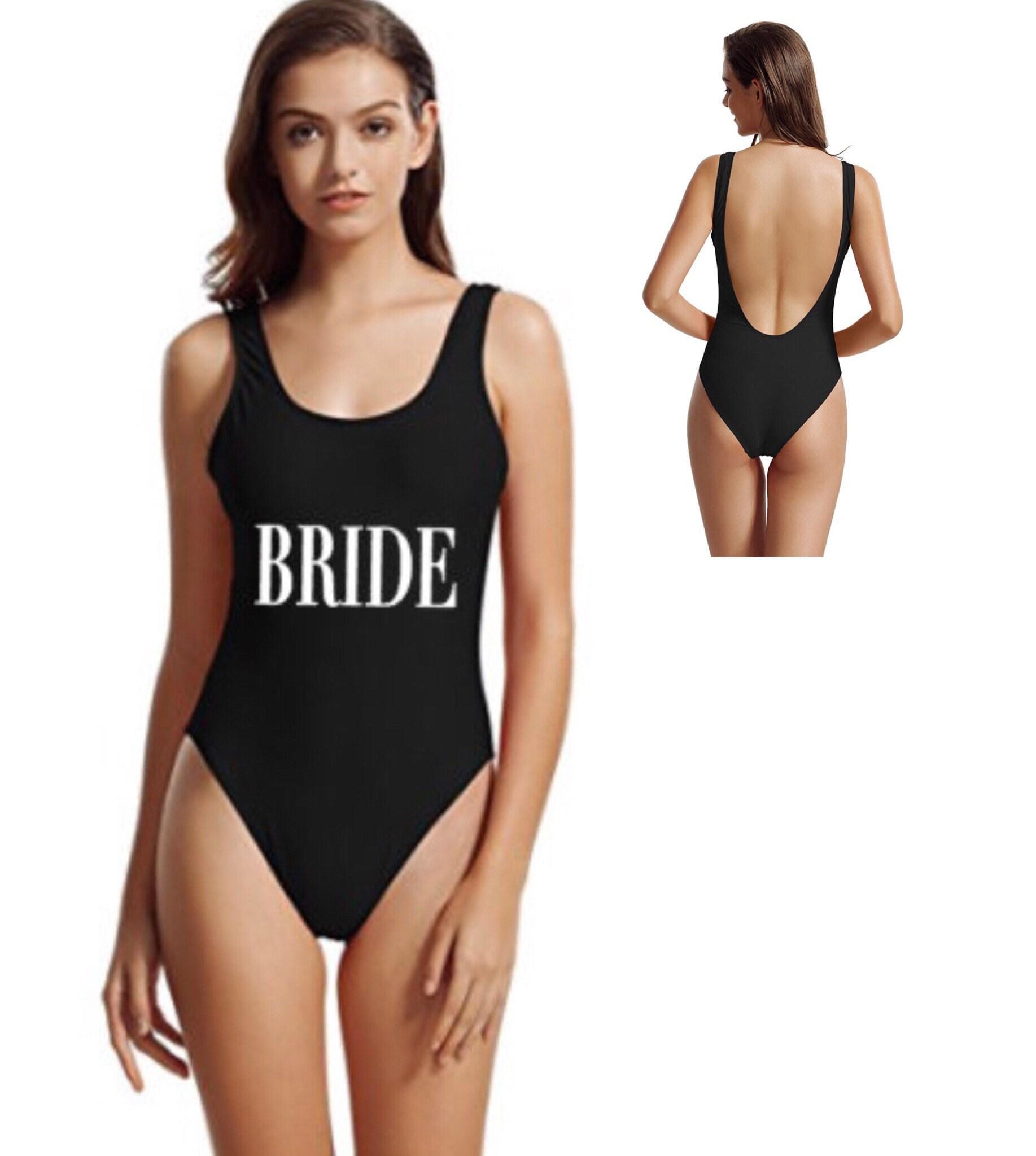 Bride One Piece Bathing Suit: Bride Swimsuit. Bride Swim. Bride Suit. Bride One Piece